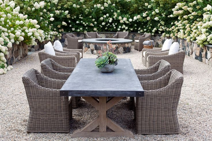 restoration hardware outdoor dining table real life - Google .