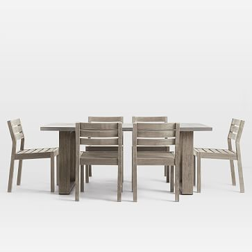Concrete Outdoor Dining Table & Portside Chairs S