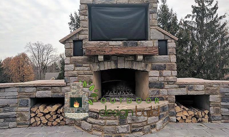 Outdoor Fireplace www.outdoordesignbuild.com | Outdoor Design Bui