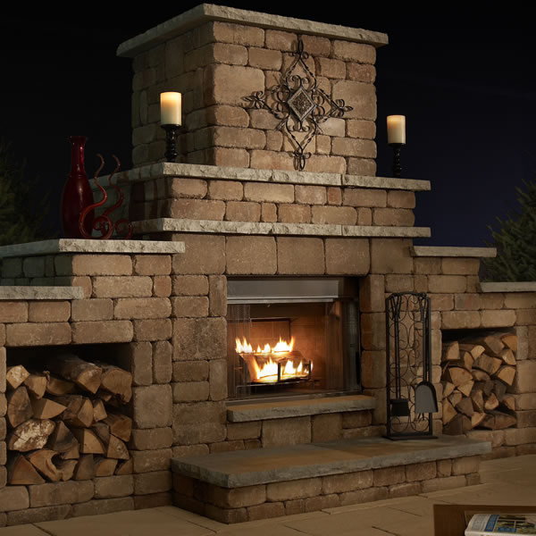 Easy Outdoor Fireplace Design Plans | CAD P