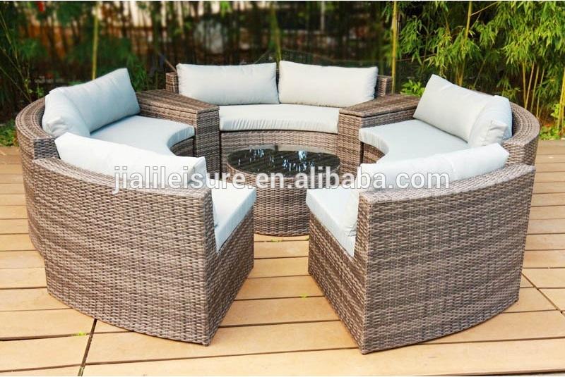 Outdoor Rattan Garden Patio Kd Round Sofa Bed Outdoor Furniture .