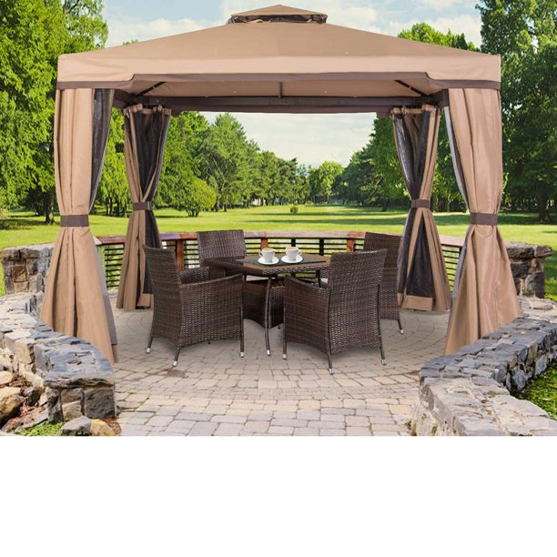 Suncrown Outdoor Patio Garden Gazebo 10 x 10 FT with Vented Soft .
