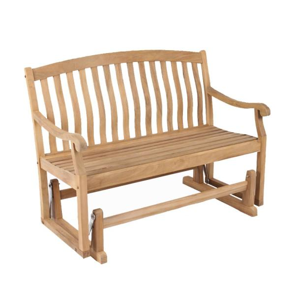 Cambridge Casual Colton Teak Wood Outdoor Glider Bench-HD-130572T .