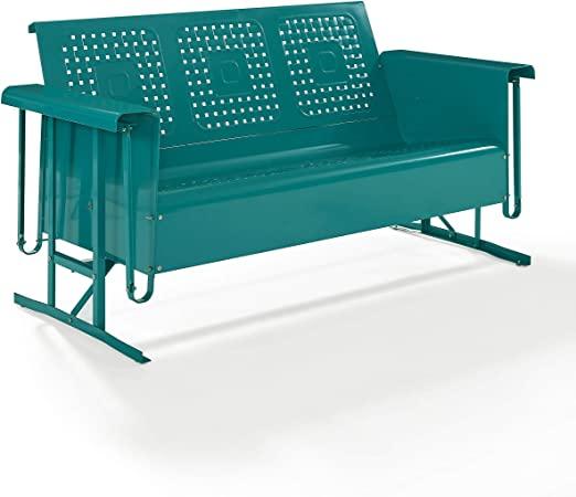 Amazon.com : Crosley Bates Sofa Glider Turquoise Gloss : Garden .
