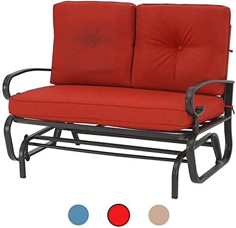 Amazon.com : Incbruce Outdoor Swing Glider Rocking Chair Patio .