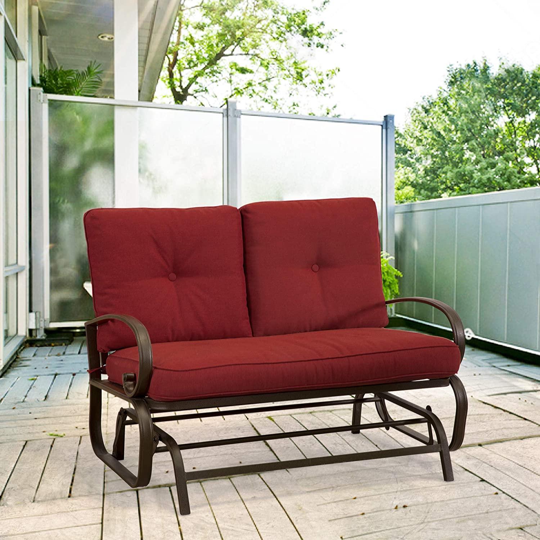 Homevibes PT0002 Outdoor Glider Porch Glider Patio Bench Loveseat .