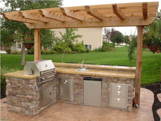 Simple Outdoor Kitchen Design Ideas | Small outdoor kitchens .