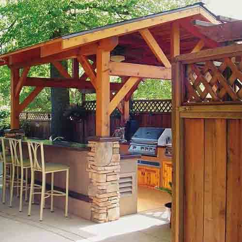 Outdoor Kitchen Designs with Roofs | 27 Beautiful Outdoor Kitchen .