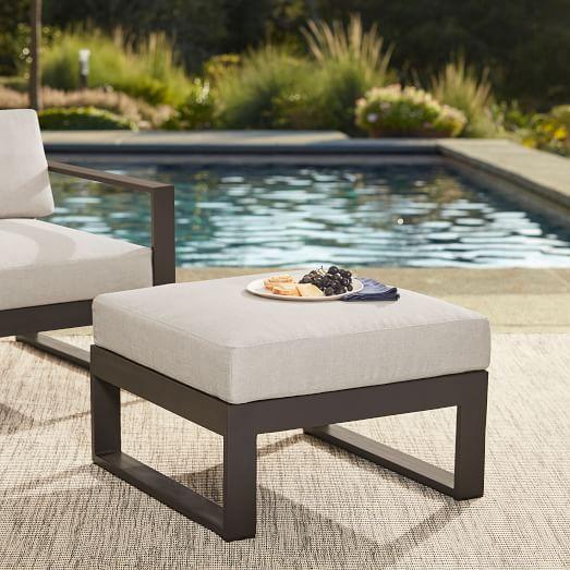 Portside Aluminum Outdoor Lounge Chair & Ottoman S