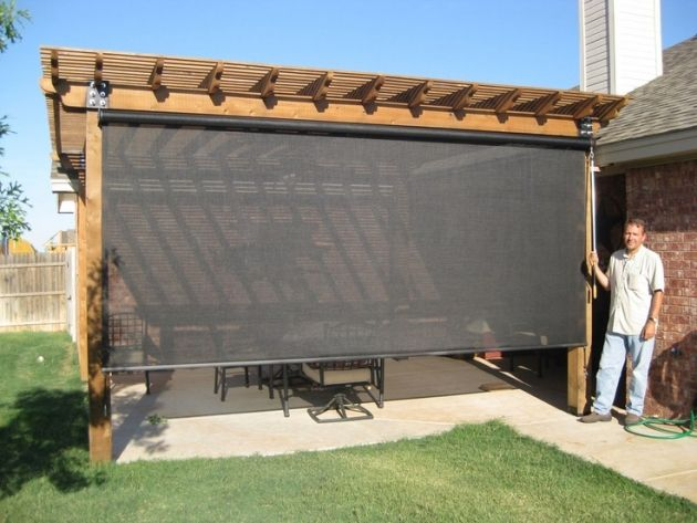 privacy screen patio | OUTDOOR SPACES – Beat the Heat's patio .