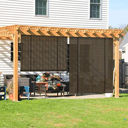 Amazon.com : Coarbor Outdoor Roll up Shades Blinds for Porch Patio .