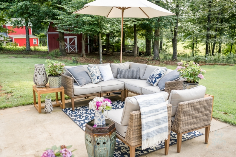 My Affordable Patio Furniture and Outdoor Decorating Ti