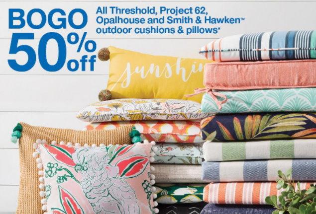 B1G1 50% Off Outdoor Cushions & Pillows at Target - TotallyTarget.c