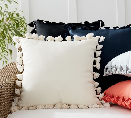 Tassel Trim Indoor/Outdoor Pillows | Pottery Ba
