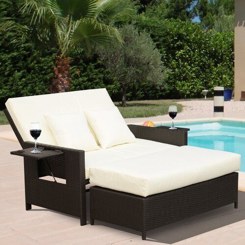 Ebern Designs Abernathy Double Reclining Chaise Lounge with .