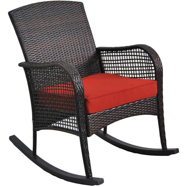 Mainstays Cambridge Park Wicker Outdoor Rocking Chair - Walmart .