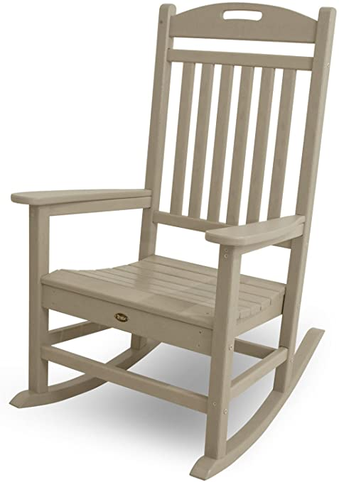 Amazon.com : Trex Outdoor Furniture Yacht Club Rocker Chair, Sand .