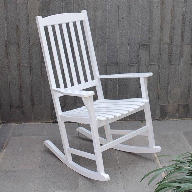Willow Bay Outdoor Rocking Chair, White - Walmart.com - Walmart.c
