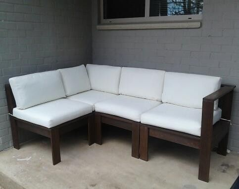 Simple Modern Outdoor Sectional DIY | Diy outdoor furniture .