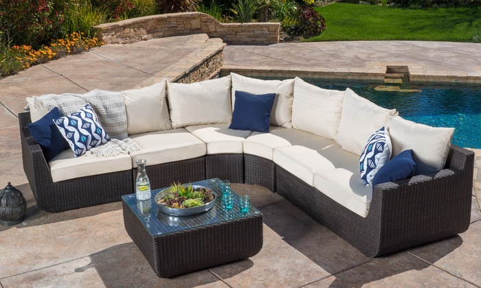 Prado Outdoor Sectional Sofa Set with Cushions (7-Piece) | Group