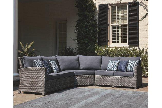 Salem Beach 3-Piece Outdoor Sectional | Ashley Furniture HomeSto