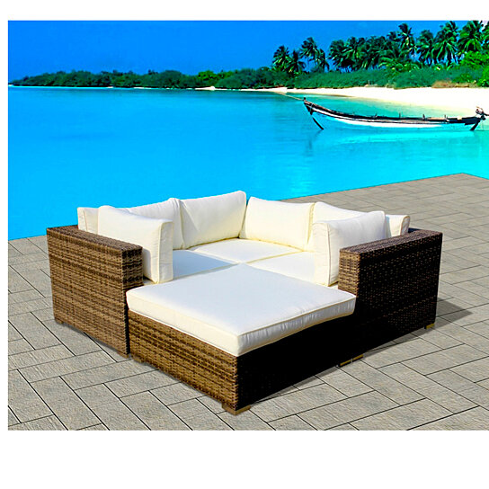 Buy 4-Piece Resin Wicker Outdoor Patio Furniture Sectional Sofa .