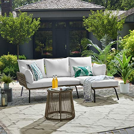 Amazon.com: Barton 3 Pieces Patio Sectional Set Furniture Set .
