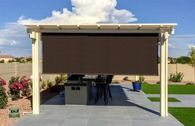 Grande Blackout Heavy-Duty Outdoor Shades | North Solar Scre