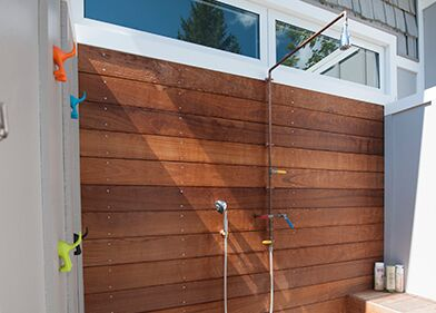 Add an Outdoor Shower to Your Pool Area - Woodfield Outdoo