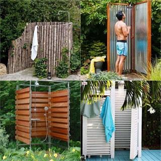 32 Beautiful & Easy DIY Outdoor Shower Ideas - A Piece of Rainb