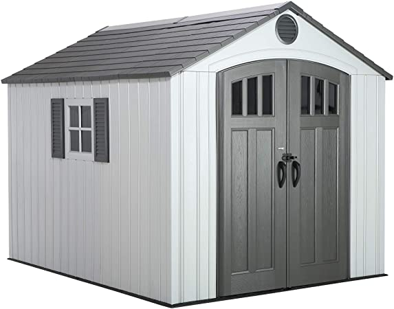 Amazon.com : LIFETIME 60202 8 x 10 Ft. Outdoor Storage Shed, Gray .