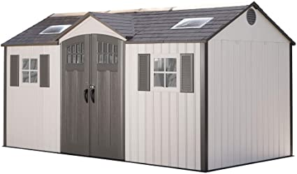 Amazon.com: Lifetime 60138 Outdoor Storage Shed, Desert Sand, 15 x .