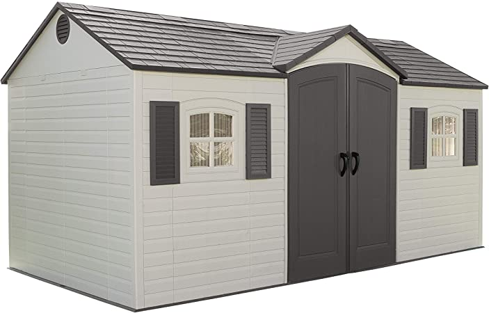 Amazon.com : Lifetime 6446 Outdoor Storage Shed with Shutters .