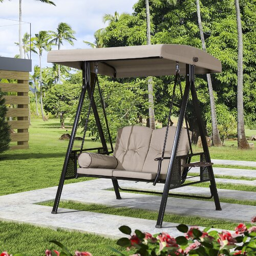Red Barrel Studio® Musa 2 Seat Outdoor Porch Swing with Stand .