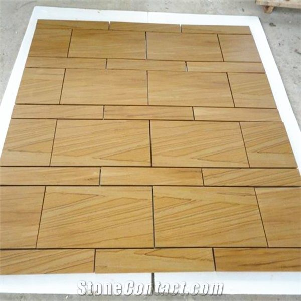 Honed Sandstone Outdoor Tiles Gold Yellow Wall Sandstone Paver .