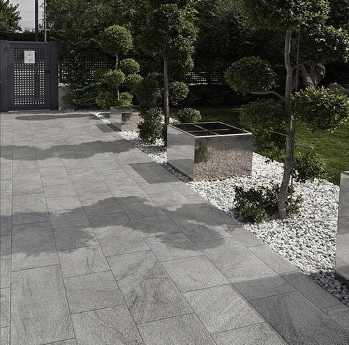Outdoor tile / for floors / porcelain stoneware / matte STONETRACK .