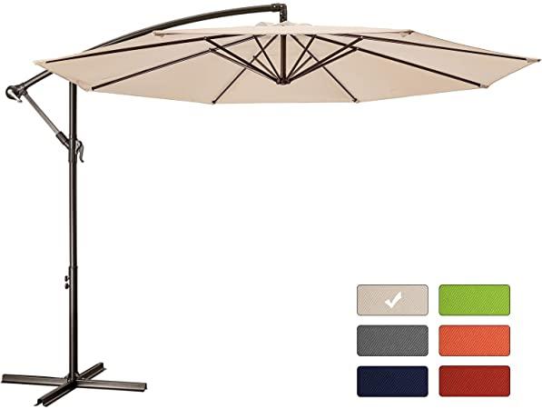 Amazon.com : Patio Umbrella 10 ft Cantilever Offset Umbrella .