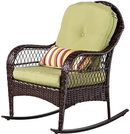 Amazon.com: Sundale Outdoor Wicker Rocking Chair Rattan Outdoor .