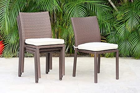 Amazon.com : Atlantic Patio Liberty 4-Piece Patio Stackable Chairs .