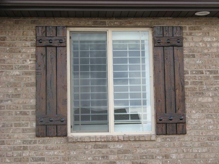 Rustic Shutters - Custom Exterior Designs | Shutters exterior .