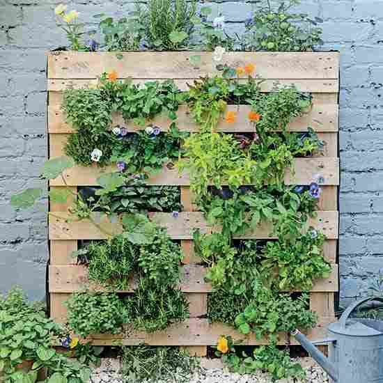 How to Build a Vertical Pallet Garden for Vegetables and Herbs | GR