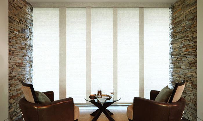 Levolor Blinds - Panel Track Blinds - Solar Screen Tweed | Steve's .