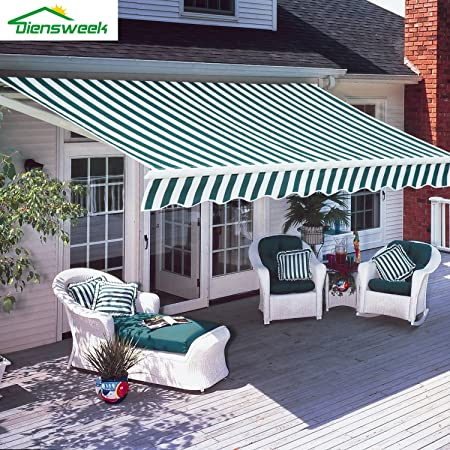 Amazon.com : Diensweek 10'x8' Patio Awning Retractable Manual .