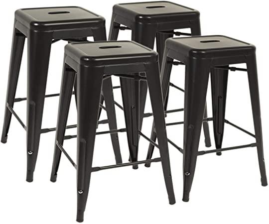 Amazon.com: FDW Metal Bar Stools Set of 4 Counter Height Barstool .