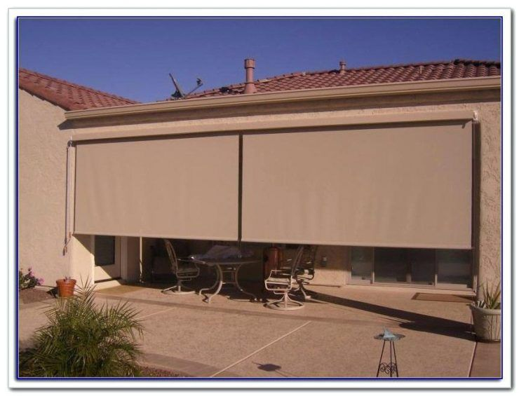 Roll Up Patio Blinds | Patio shade, Porch shades, Patio sun shad