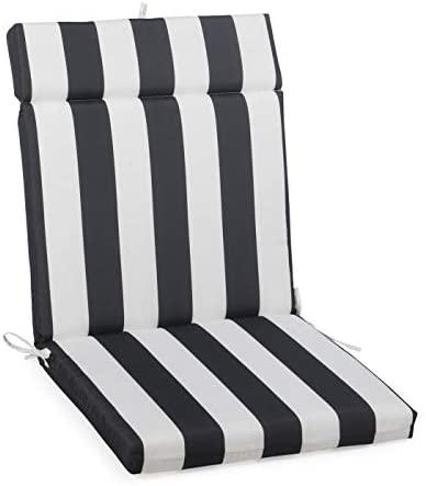 Amazon.com : Black White Striped Outdoor Patio Chair Cushion .