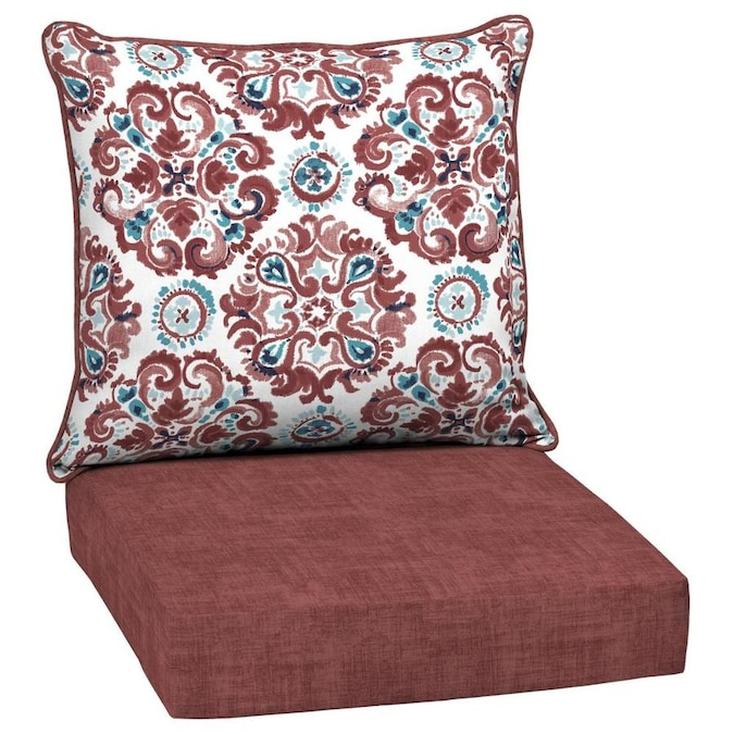 Style Selections 2-Piece Cambrian Deep Seat Patio Chair Cushion in .