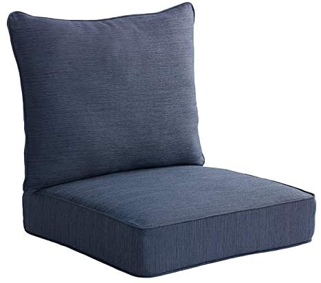 Amazon.com : allen + roth 2-Piece Madera Linen Navy Deep Seat .