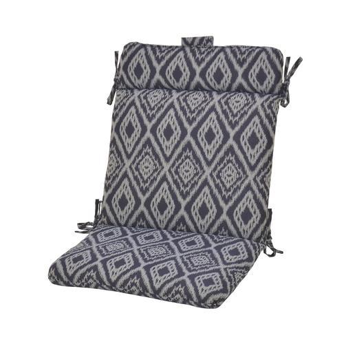 Backyard Creations™ Baltic Ikat Wrought Iron Patio Chair Cushions .