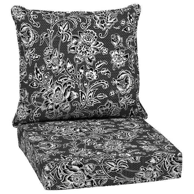 Garden Treasures 2-Piece Jakarta Weave Black and White Deep Seat .